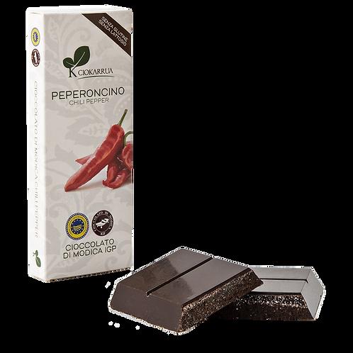 Cioccolato Extra Fondente di Modica I.G.P. al Peperoncino