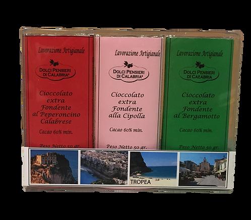 Tris di Cioccolato Extra Fondente Calabria