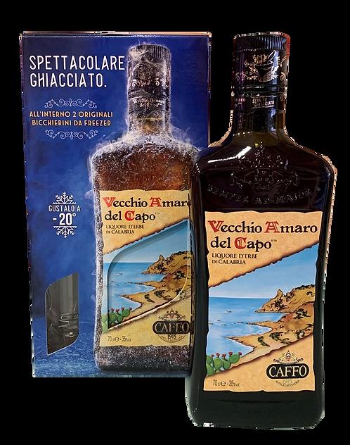 Vechio Amaro del Capo con bicchieri