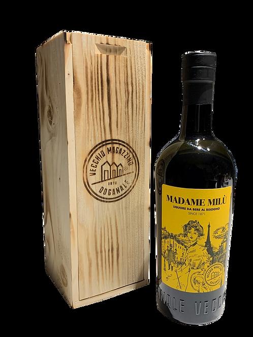 Madame Milù in cassetta di legno