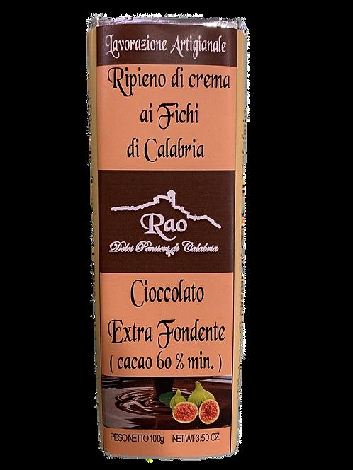 Tavoletta di Cioccolato Extra Fondente ripiena ai fichi