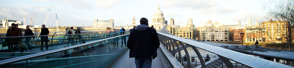 C C Adams the horror/dark fiction author on Millennium Bridge
