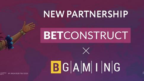 BGaming and BetConstruct Sign Partnership Deal