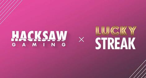 LuckyStreak Expanding Its Portfolio With Hacksaw Gaming
