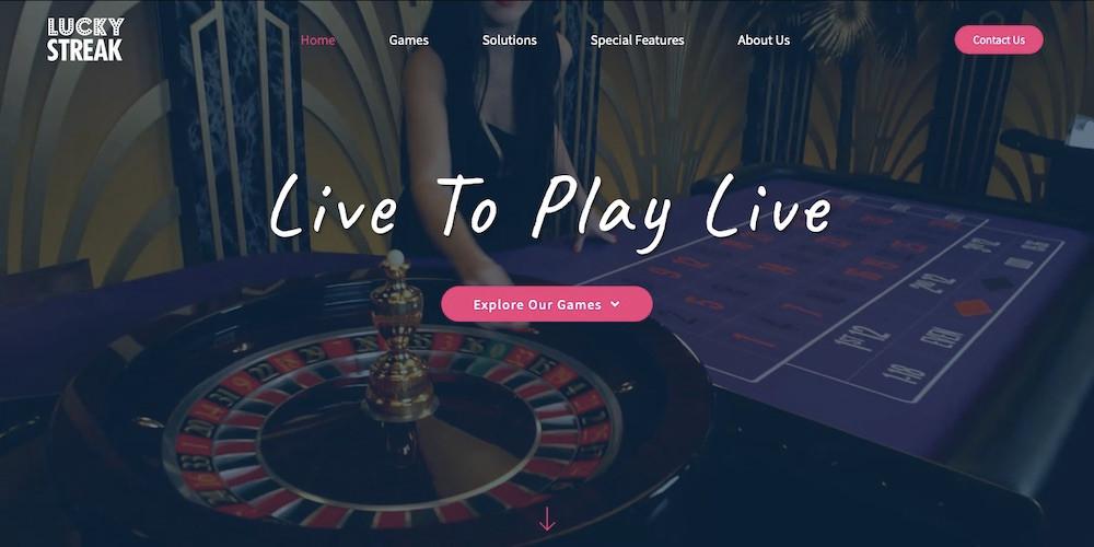 New and Improved LuckyStreak Website