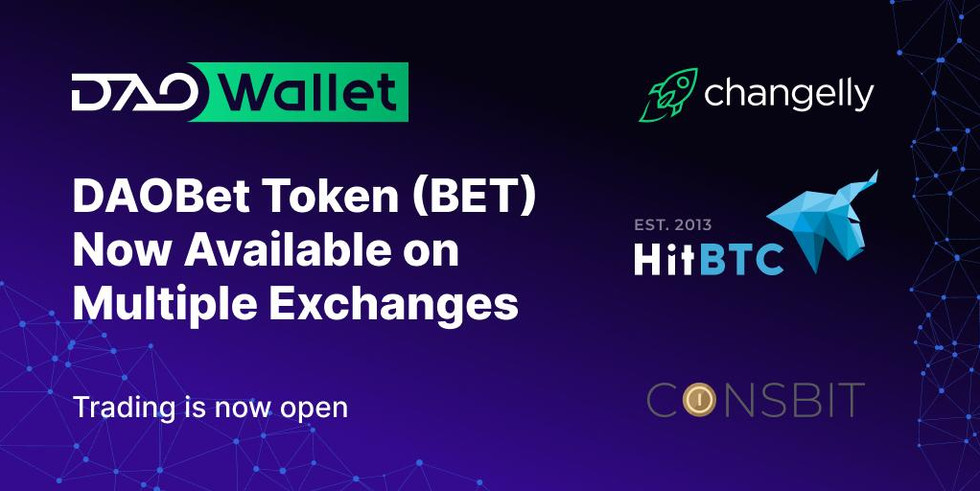 DAOBet (BET) Token Available on Multiple Exchanges