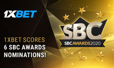 1xBet shines with 6 nominations at the 2020 SBC Awards