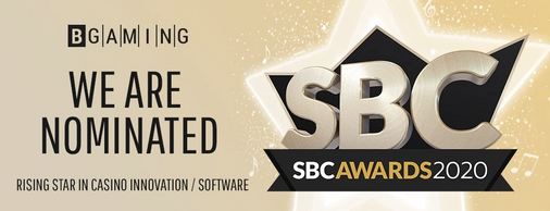 BGaming is shortlisted for the SBC Supplier awards