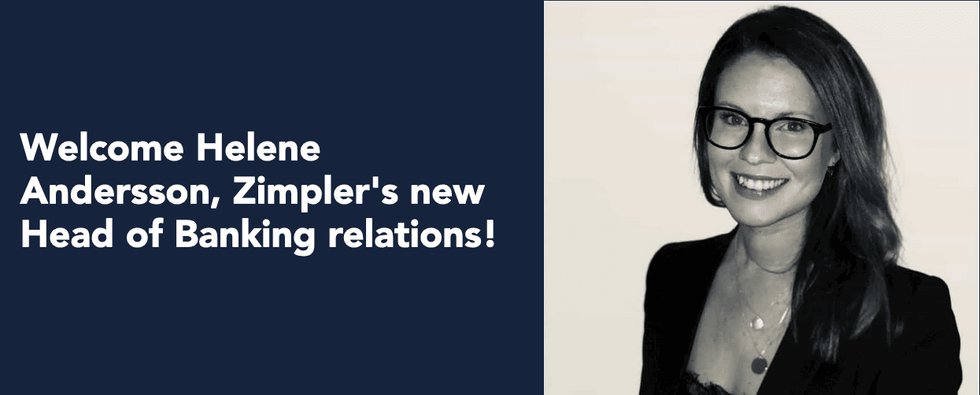 Welcome Helene Andersson, Zimpler's New Head Of Banking Relations