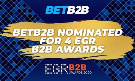 BETB2B platform nominated in 4 categories of prestigious EGR B2B Awards