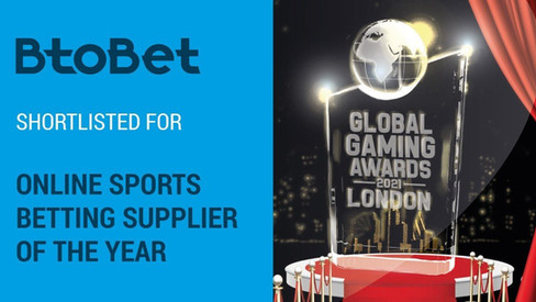 Shortlisted for Coveted Online Sports Betting Supplier Of The Year at Global Gaming Awards London