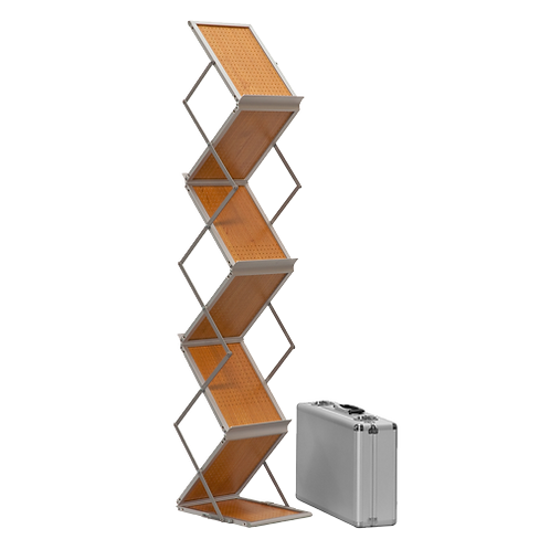 Falt-Prospektständer Holz
