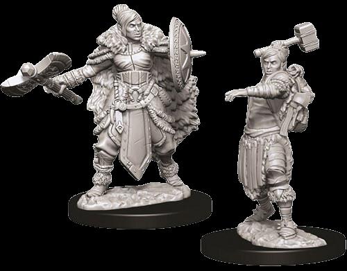 Half-Orc Barbarian (Female) - Nolzur's Marvelous Miniatures