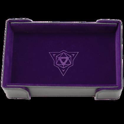 Die Hard Rectangle Magnetic Folding Dice Tray: Purple Velvet