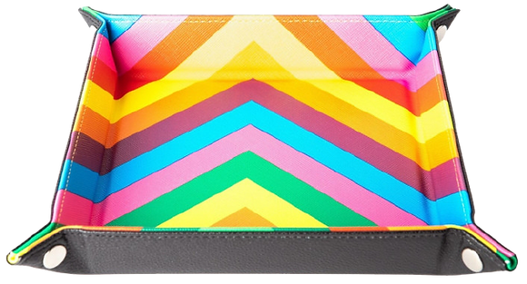 MDG  Folding Dice Tray: Rainbow