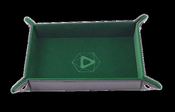 Die Hard Rectangle Folding Dice Tray: Green Velvet