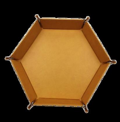 Hex Folding Dice Tray: Orange