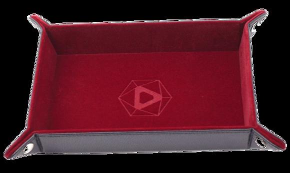 Die Hard Rectangle Folding Dice Tray: Red Velvet