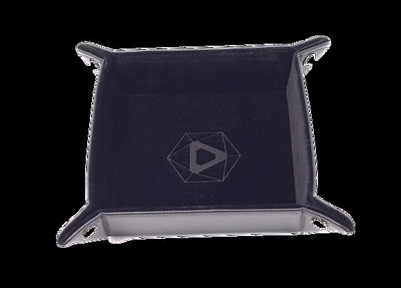 Die Hard Square Folding Dice Tray: Black Velvet