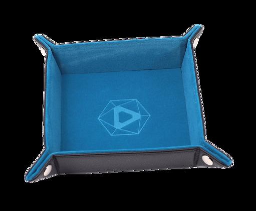 Die Hard Square Folding Dice Tray: Teal Velvet