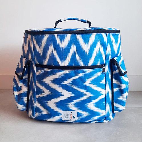 Mochila  Zig Zag Azul L