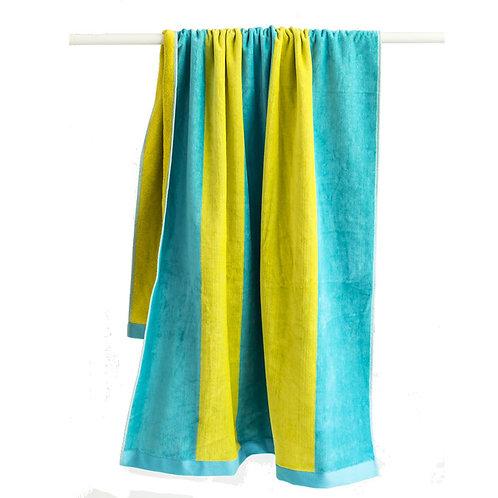 Toalla Rizo Amarilla Azul
