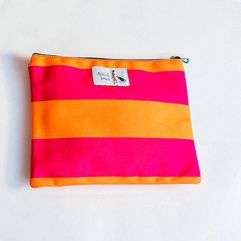 Bolsito Plastificado Raya Naranja S