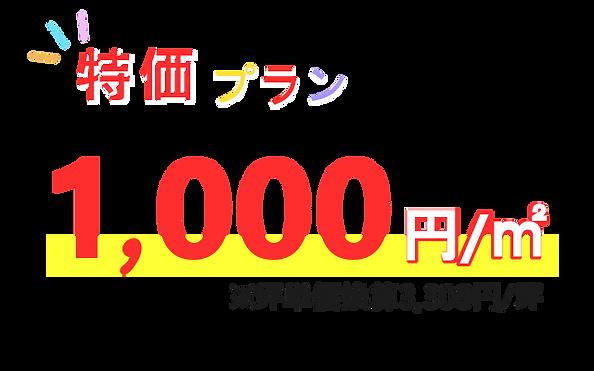 シロアリ駆除 特価プラン1平米あたり1,000円