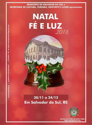 Programação do Natal Fé e Luz 2018 de Salvador do Sul, é divulgada