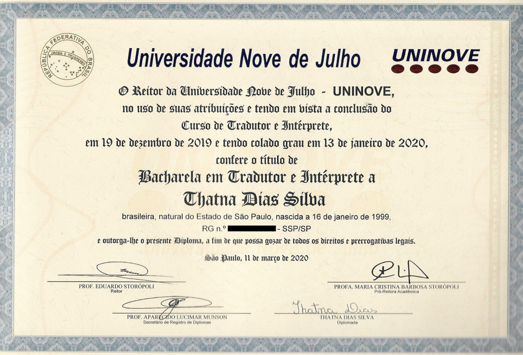 Bachelor in Translation and Interpretation