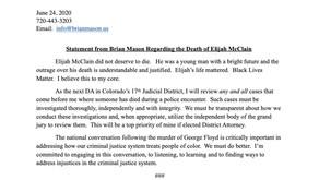 Elijah McClain Statement