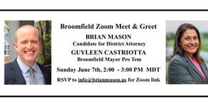 Broomfield Zoom Meet and Greet!
