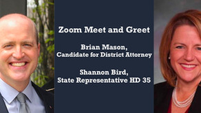 Zoom Meet and Greet with State Representative Shannon Bird.         Sunday May 17, 2:00-3:00 PM, MDT