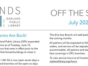 July Off the Shelf is Live