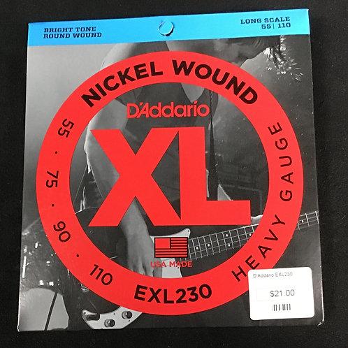 D'Addario Nickel Wound EXL 230 long scale
