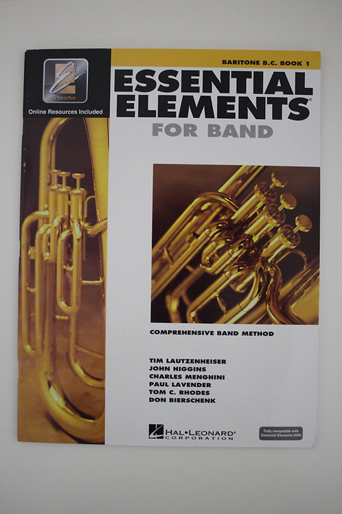 Essential Elements For Band: Baritone B.C. Book 1