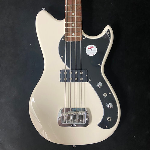 G&L Tribute Fallout Bass - Olympic White