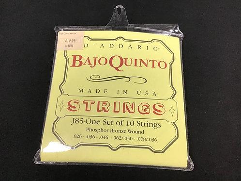 D'Addario Bajo Quinto One Set of 10 Strings