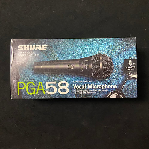 Shure PGA58XLR w/XLR to XLR Cable
