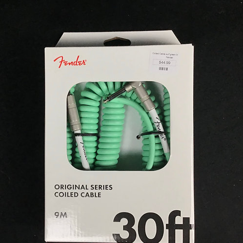 Coiled Cable Surf Green 30 Ft Fender