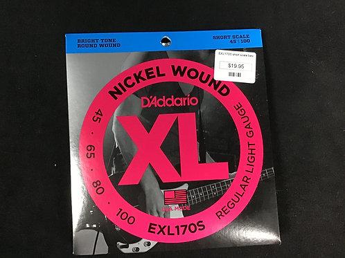 D'Addario Nickel Wound short scale EXL 170