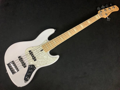 Used Sire Marcus Miller v7 Swamp Ash 5-String Bass - White Blonde
