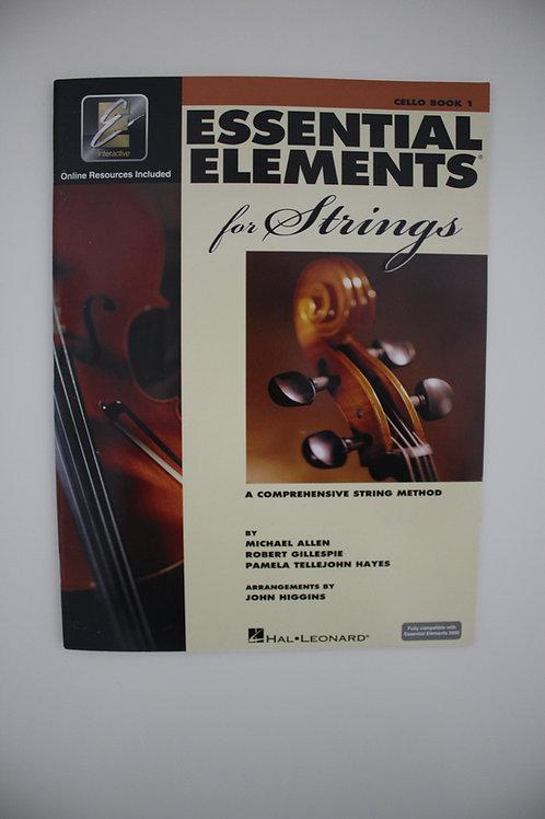 Essential Elements: A Comprehensive String Method, Cello Book 1(Saxe 5th)
