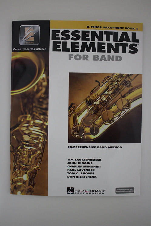 Essential Elements: Comprehensive Band Method, Tenor Saxophone Book 1