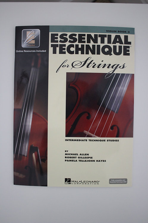 Essential Technique for Strings: Violin Book 3