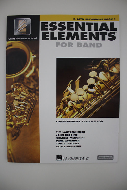 Essential Elements: Comprehensive Band Method, Alto Sax Book 1