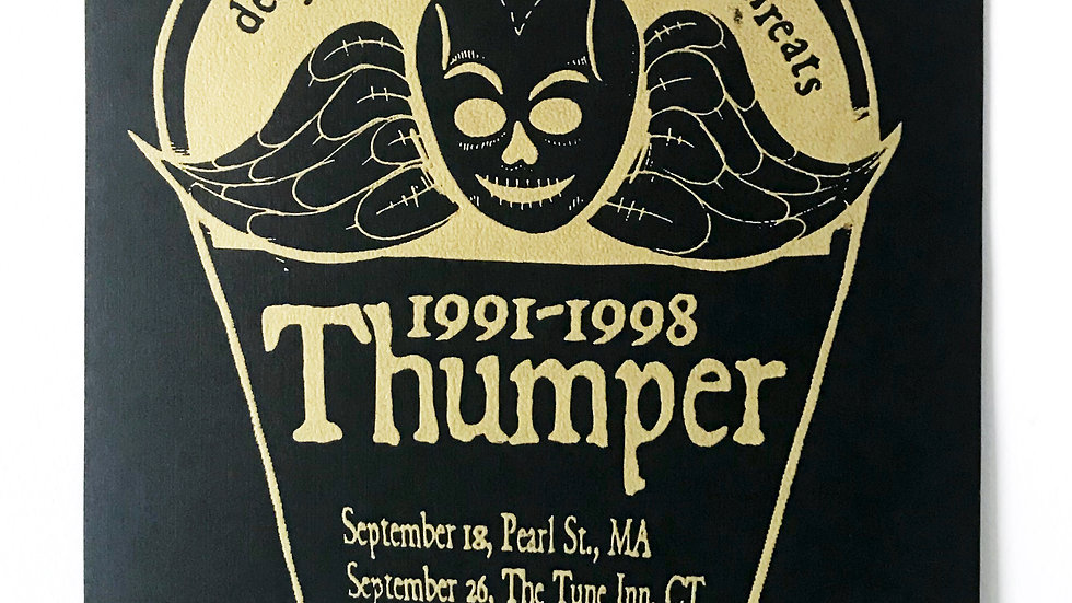 Final Thumper flyer from 1998 signed and editioned