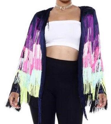 Fancy Fringe Cardigan Jacket