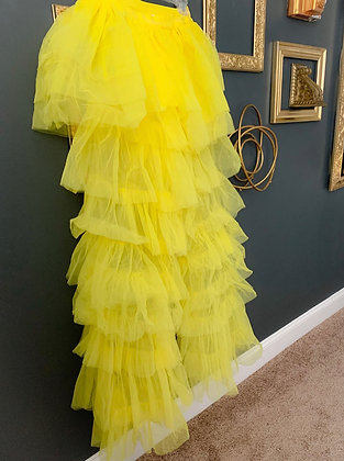 Exaggerated Tulle Pants (Yellow)