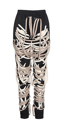"""(PRE- ORDER )""""Heavy on the Lace"""" Joggers  (Black & White)"""